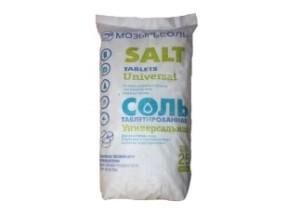 Соль таблетированная Мешок 25кг. МозырьСоль